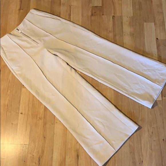 Wilfred pant front zipper sz 2 cream